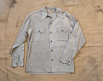 1970s Rayon Button Down Shirt
