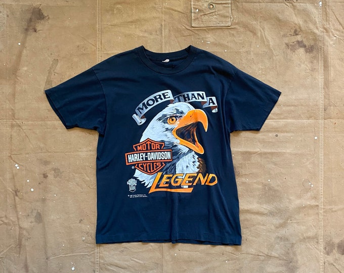 80s Harley Davidson T-shirt Eagle