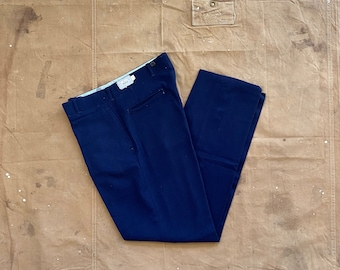 70s Woolrich Wool Pants Button Fly 34x34  NOS *