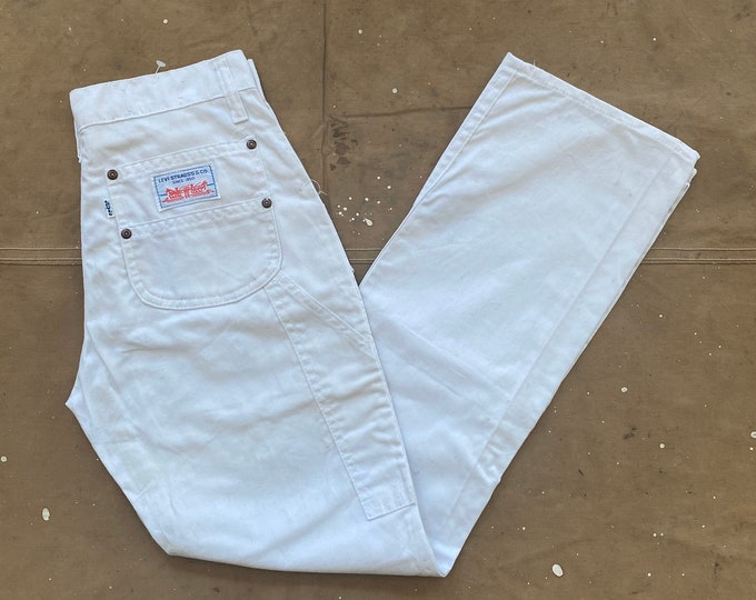 White tab Levi's Carpenter Pants 28 waist NOS