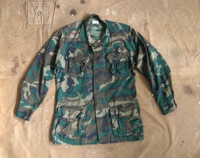 1970s Vietnam Slant Pocket Poplin Jacket