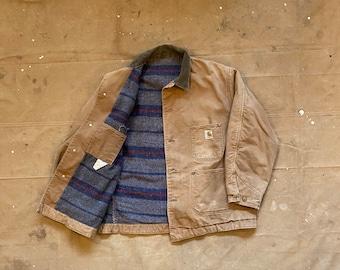70s Carhartt Chore Coat Troy Blanket Lined