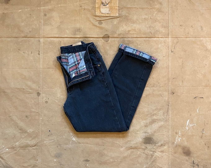80s LL Bean Flannel Lined Jeans