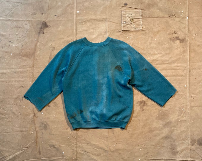 Faded Green Sweatshirt Distressed