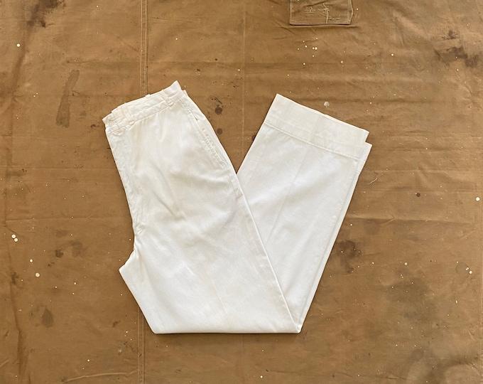 28 Waist 1940s / 50s White Trousers