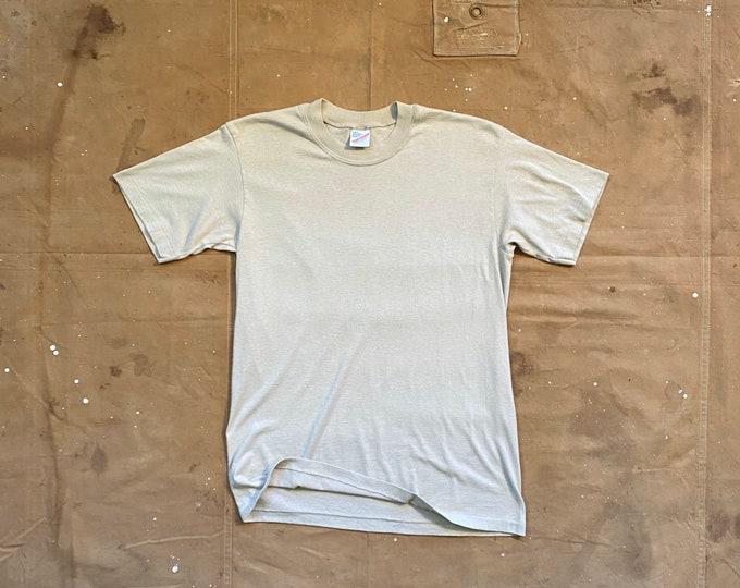 80s Thin Blank T-shirt Single Stitch
