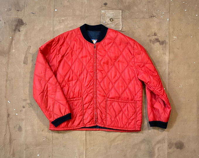 Quilted liner Jacket red