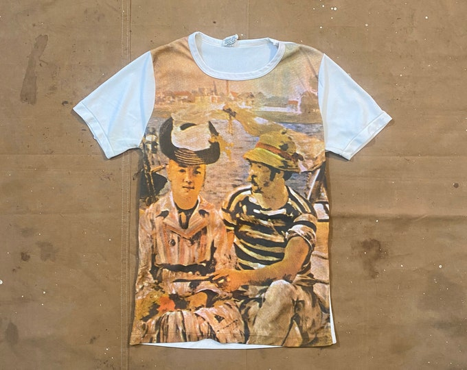 Argenteuil by Manet '70s Photo Realistic print T-shirt