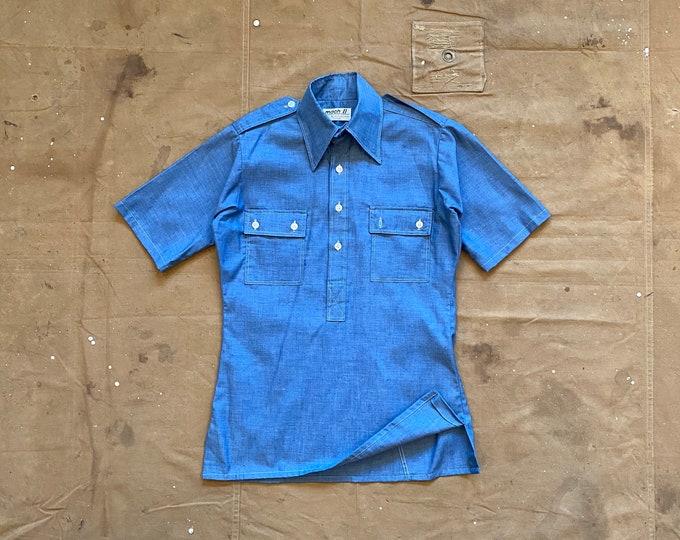 1950s / 60s Chambray Shirt Denim Pullover NOS