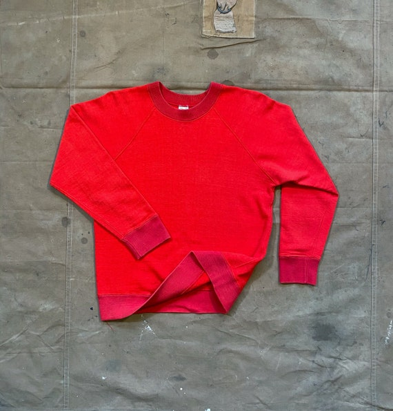 1950s / 60s Sweatshirt Two Tone Red Crewneck RMC