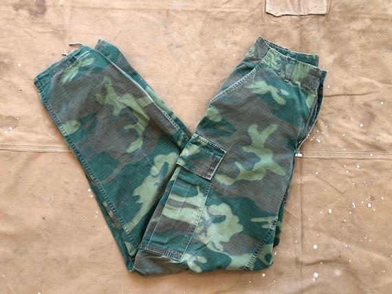 Vietnam Camo Cargo Pants US Army Trousers 28 Waist