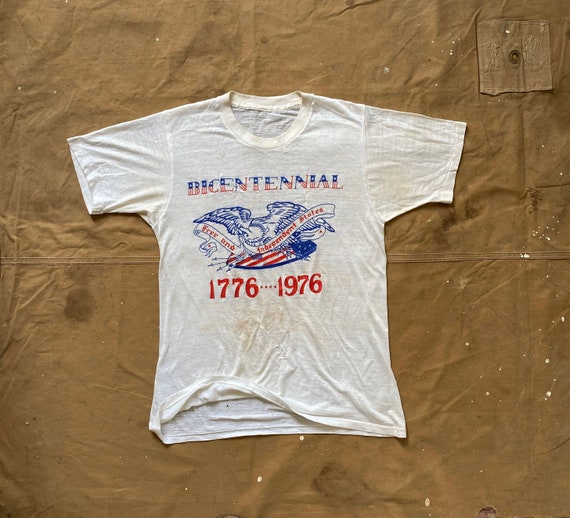 70s Bicentennial Tee Threadbare Heavily distressed / repaired