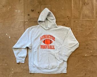 SU 80s Champion Reverse Weave Hoodie Syracuse Football