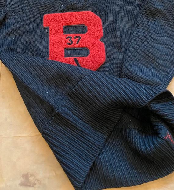 "1930s Varsity Sweater "" B "" Letterman - image 8"
