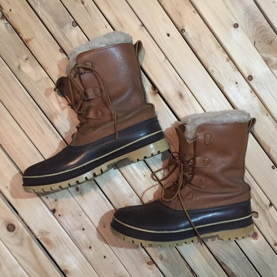 Sorel Boot Scout Felt lined Size 9 Insulated Winter Boot Made in Canada