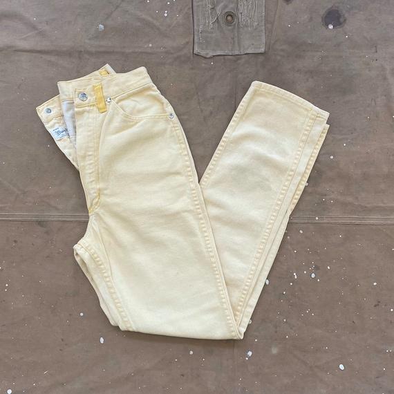 50s Wrangler Jeans Misses 11 / 12 Yellow 22 waist