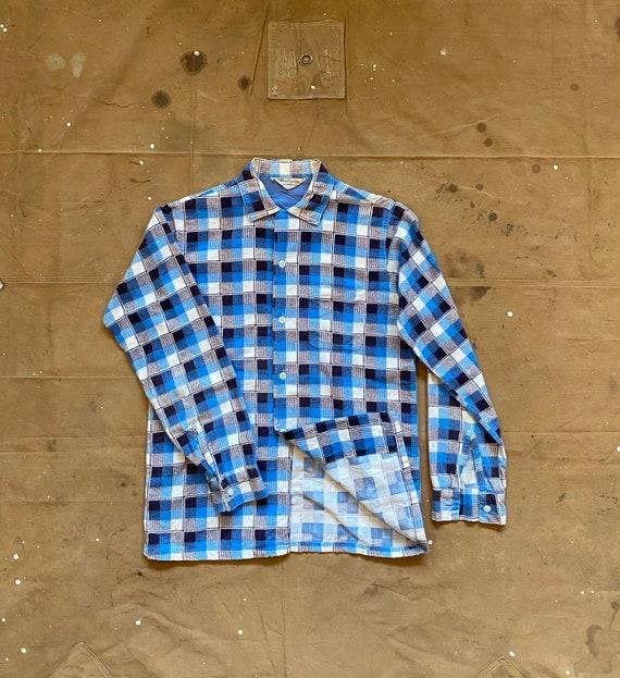 50s Loop Collar Flannel  Shirt Pennleigh