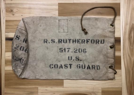 US Coast Guard Canvas Bag Rope Draw String