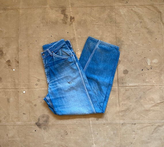 60s Big Mac Distressed & Repaired Carpenter Jeans