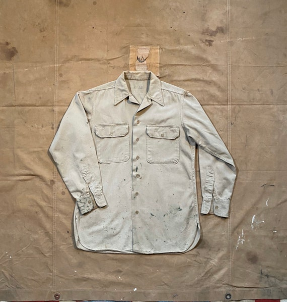 50s Work Shirt Cotton Twill Artist smock