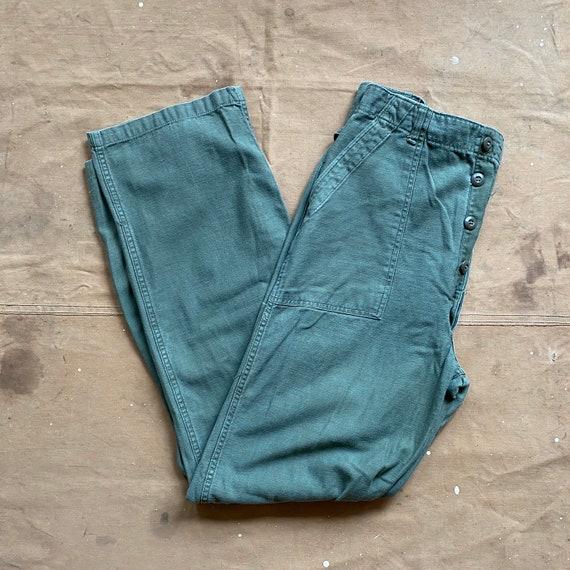 60s US Army Trousers 29 Waist OG 107