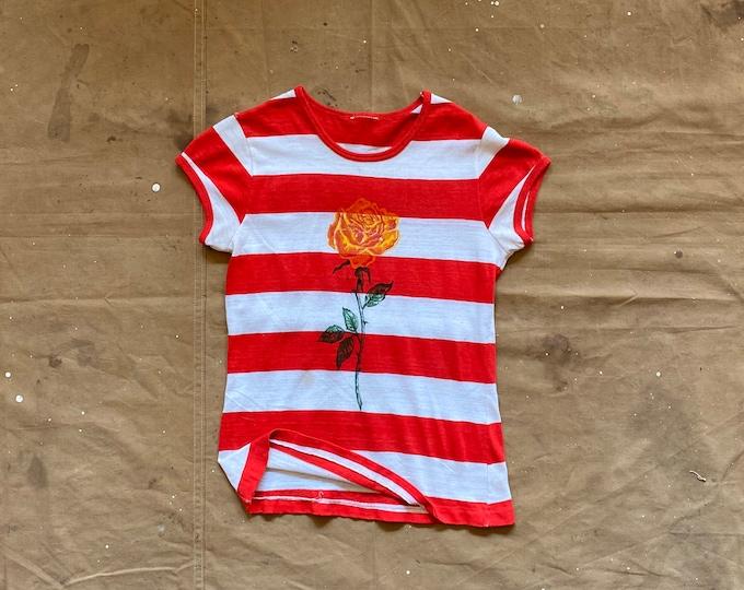 70s Rose Stripe T-shirt