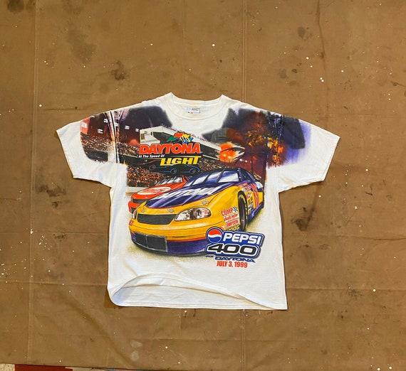 90s Nascar T-shirt Daytona Speedway Mega Print XL