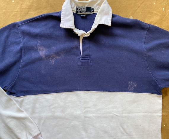 80s Ralph Lauren Crossflags Polo 1987 Rugby - image 5