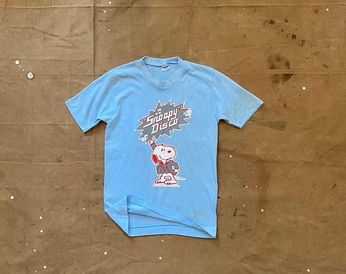 Disco 70s Snoopy T shirt Champion