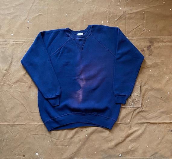 Single V sweatshirt Navy Blue sun faded