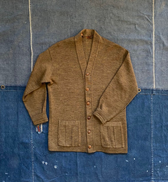 1920s / 30s Cardigan Sweater Worsted Wool