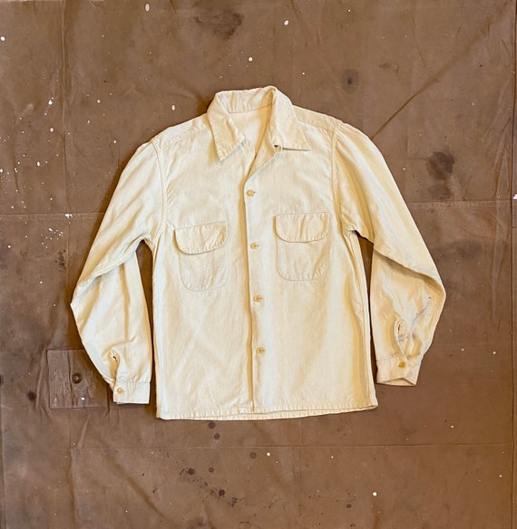 1940s Loop Collar Corduroy Button down