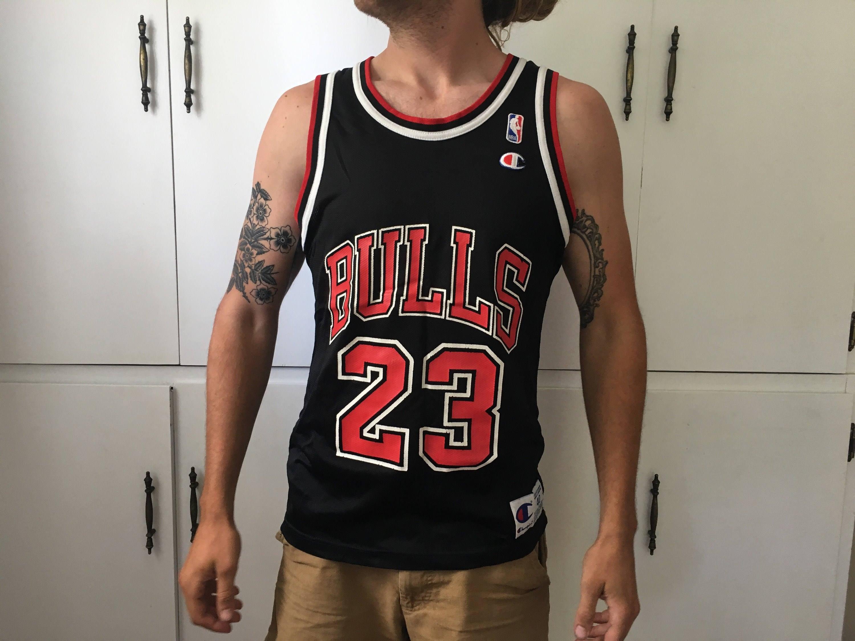 designer fashion e2973 c4a77 Michael Jordan Champion Chicago Bulls jersey 40