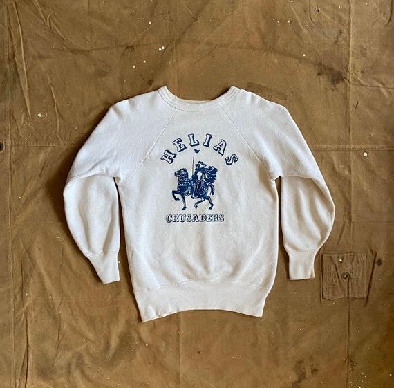50s Sweatshirt Flock Print Hanes Wind Shield 100 c