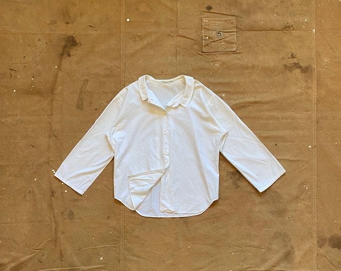 White '50s Loop Collar Shirt
