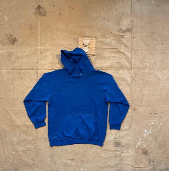70s Sweatshirt Faded Blue Hoodie