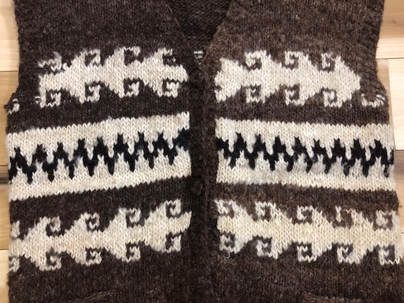 Hand Knit Wool Sweater Vest - image 4