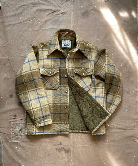 70s Woolrich sherpa Lined Shirt Jacket