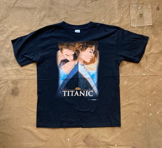 90s Titanic James Cameron Movie Promo T shirt