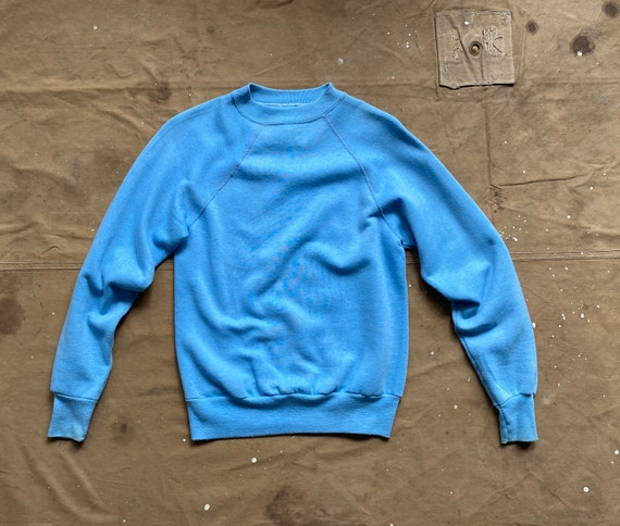 80s Raglan Sweatshirt blue