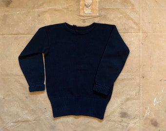 40s Black Wool Sweater
