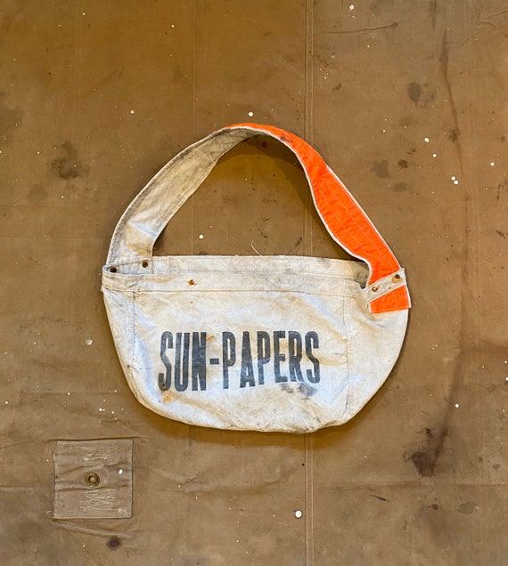Sun-Papers Newspaper Bag distressed
