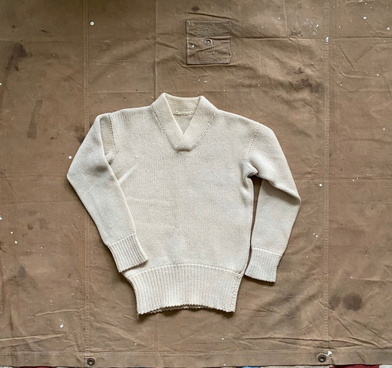 50s Wool Sweater Hand Knit