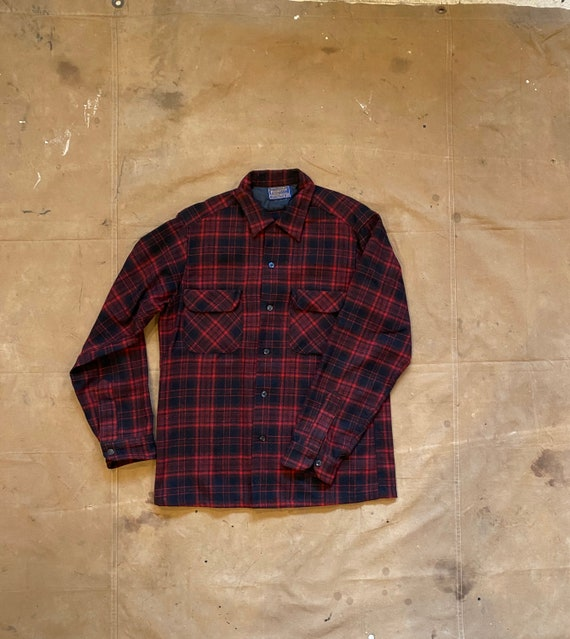 50s Pendleton Board Shirt Loop Collar