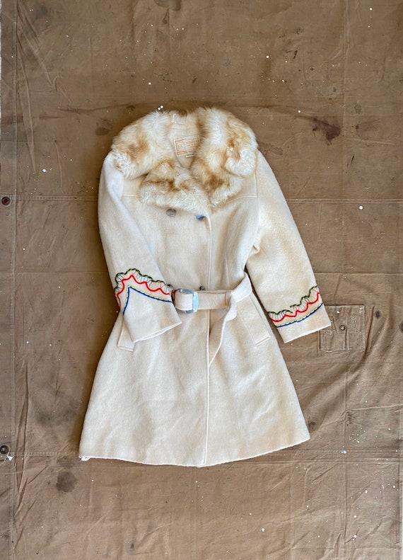Hudson Bay Coat All Wool Faux Fur Colar