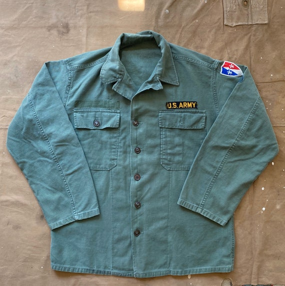 50s Sateen OG 107 Shirt Korean War US Army