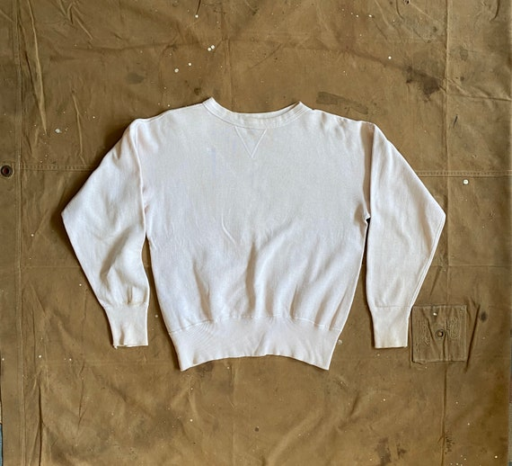50s Sweatshirt Single V White
