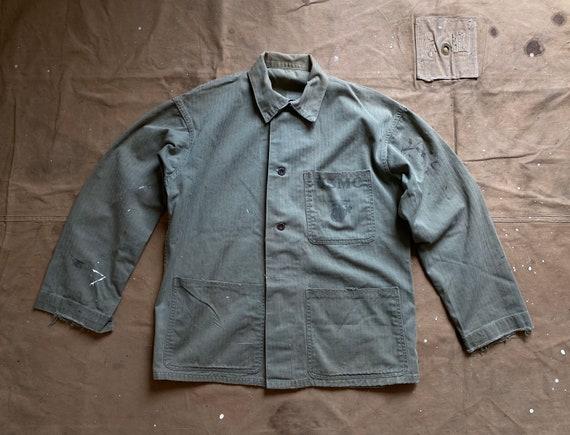 WWII HBT Jacket 40s USMC stencil
