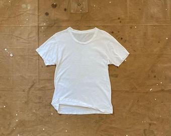 70s Paper thin White T-shirt