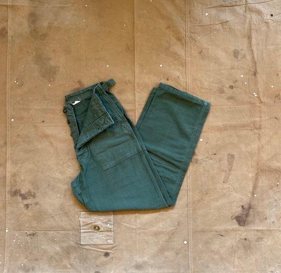60s Army Trousers 28 Waist OG 107